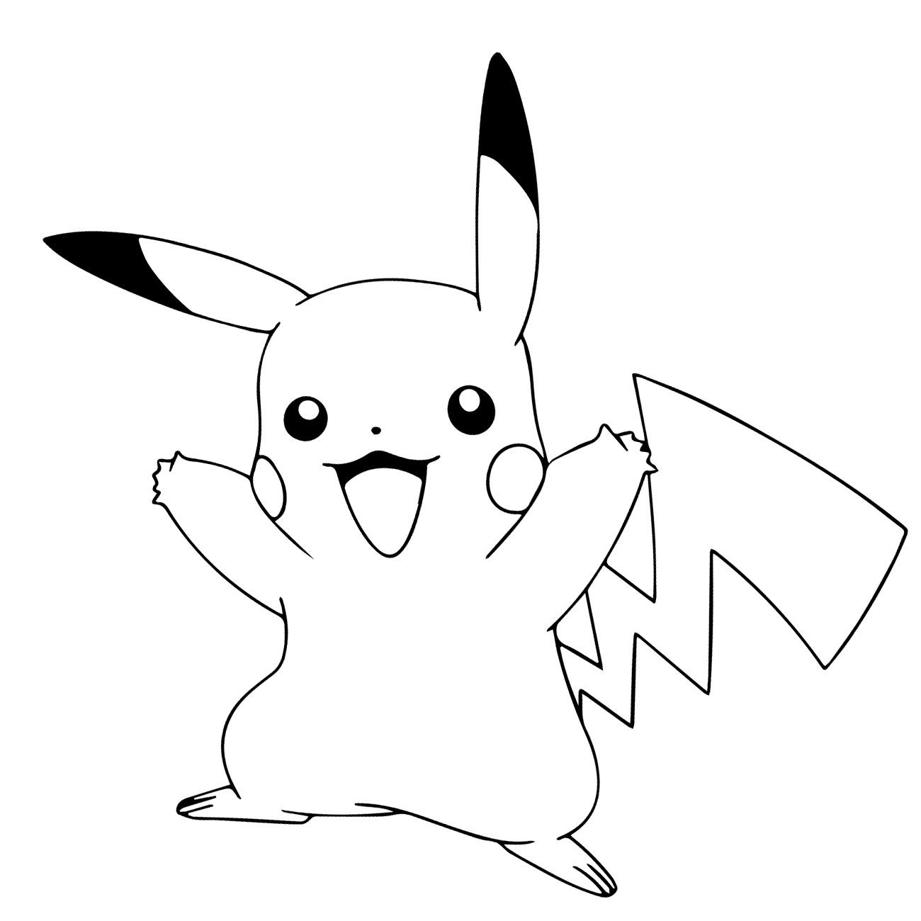 Dibujos Para Colorear De Pikachu Para Imprimir Imagesacolorierwebsite