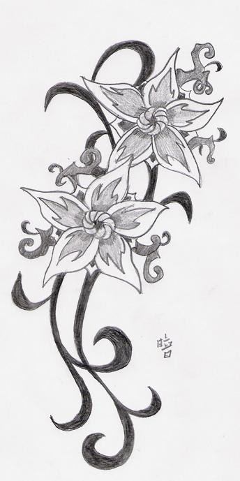 For Tattoos Tribal Flower Tattoos Get More Than Just A Average