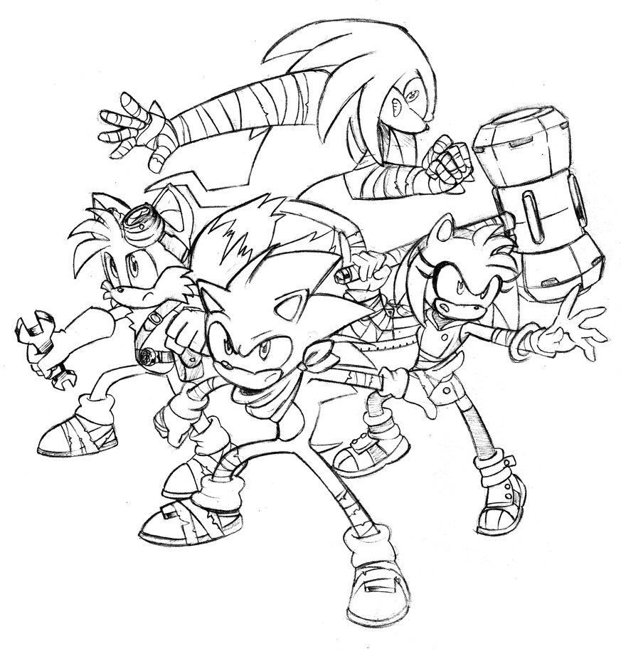 Sonic Boom Coloring Pages at GetDrawings | Free download