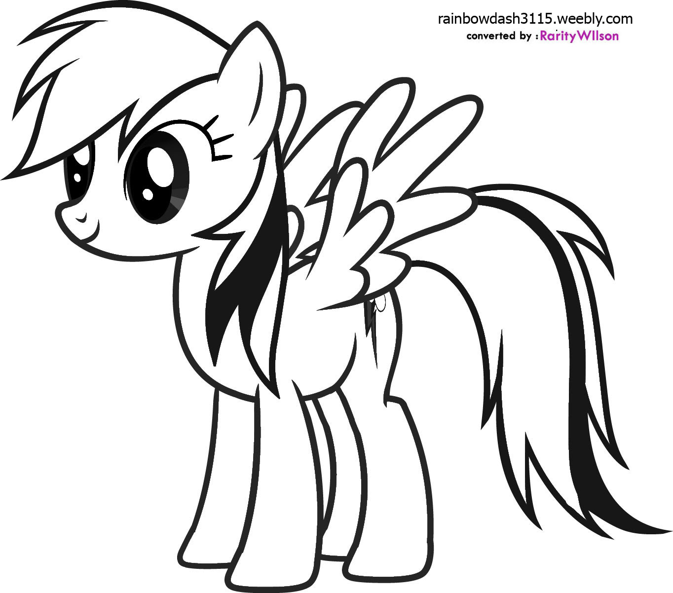 My Little Pony Drawing Rainbow Dash At Getdrawingscom Free For
