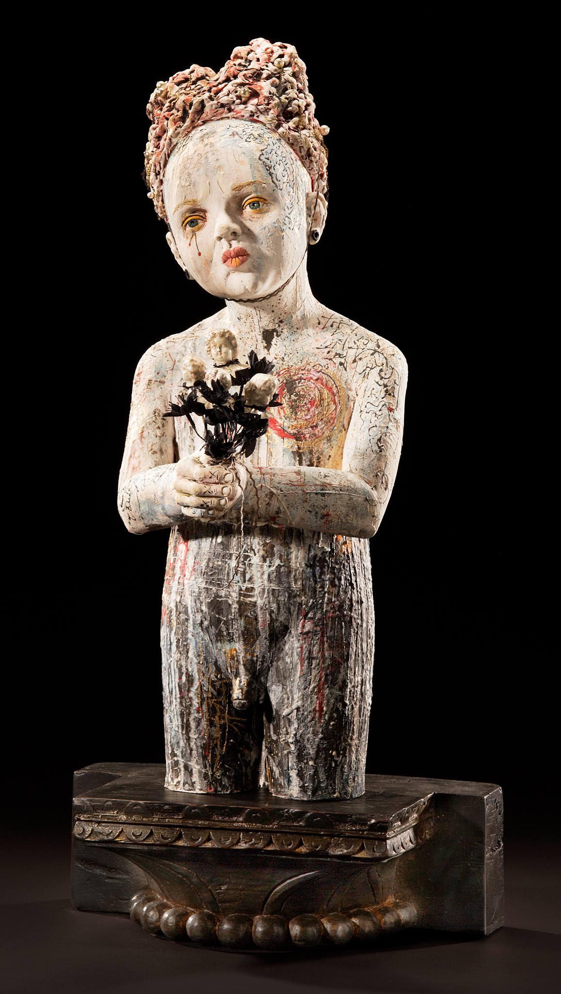 Céramique: sculpture mixte de Kirsten Stingle