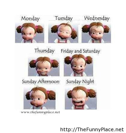 Funny Days Of Week Thefunnyplace