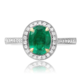 Oval Emerald & Diamond Ring   MystiqueMystique