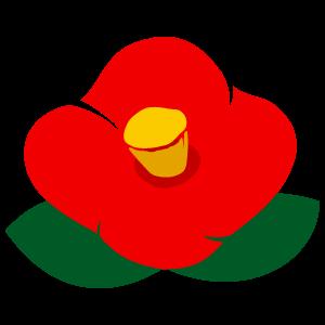 ツバキの花6 花植物イラスト Flode Illustration フロデイラスト