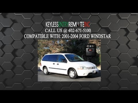 How To Replace A Ford Windstar Key Fob Battery 2001 2002 2003 And 2004 Br Programming Instructions