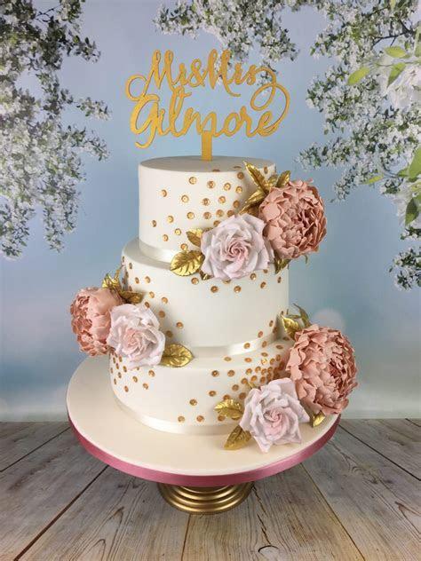 gold sequins wedding cake   Mel's Amazing Cakes