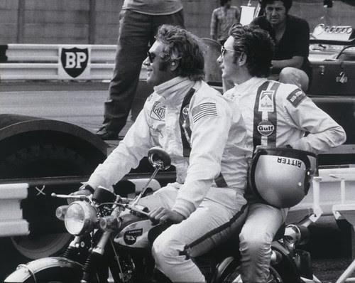 Steve and Jo Siffert at the making of Le Mans by Nigel Smuckatelli