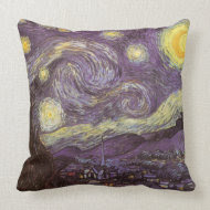 Starry Night by Vincent van Gogh throwpillow
