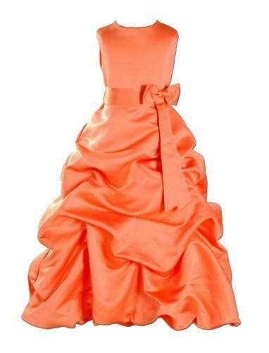 orange bridesmaid dresses ebay