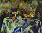 Henri Matisse. Still Life with Vase, Bottle  and Fruit.