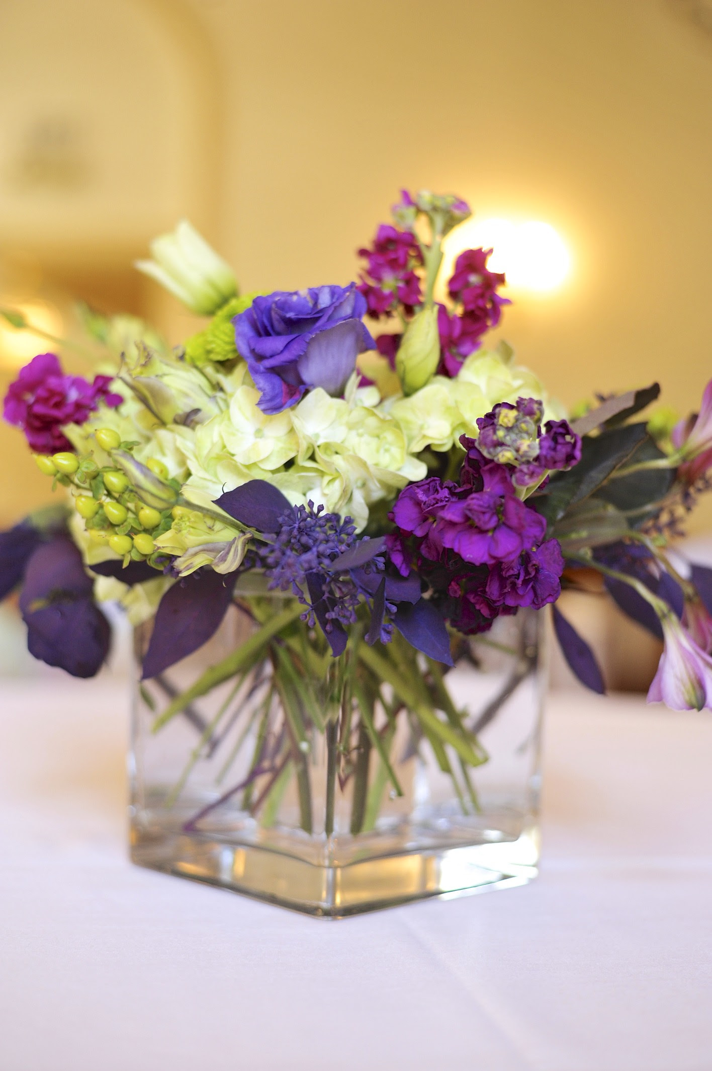 Purple And Green Wedding Flower Arrangements Flowers Healthy