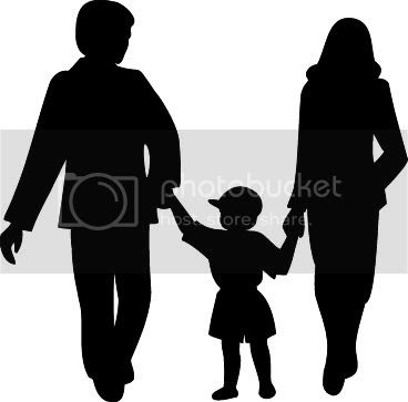 Black and white family silhouette clipart pictures for free download.