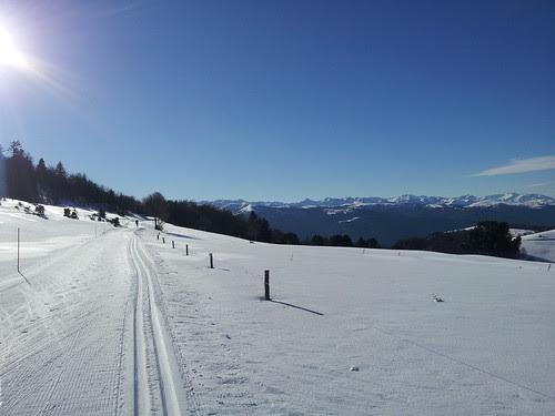 Skiing towards Andorra