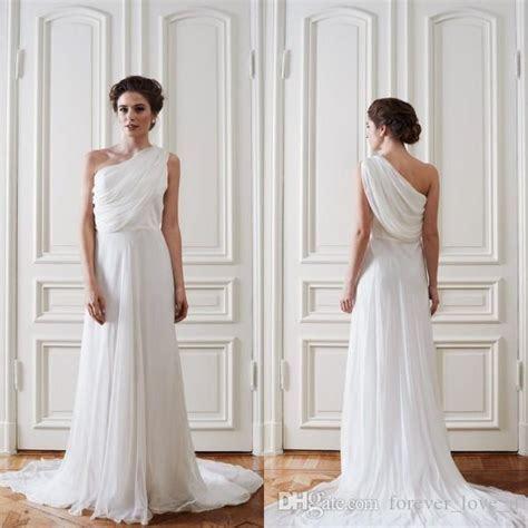 Discount 2016 Simple Greek Beach Wedding Dresses One