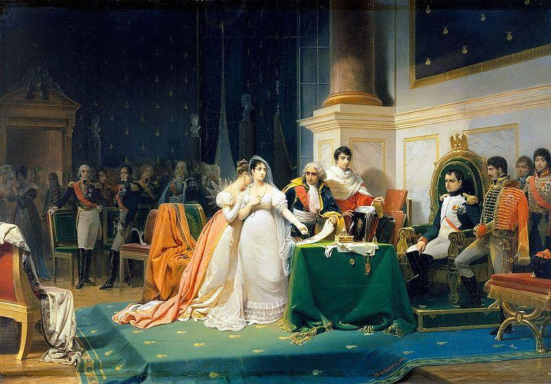 Arquivo:. Le divórcio de L'Imperatrice Joséphine 15 décembre 1809 (Henri-Frederic Schopin) jpg
