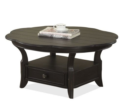 Black Coffee Table Curved: Amazing Furnitures: Riverside Cape May Round Coffee Table