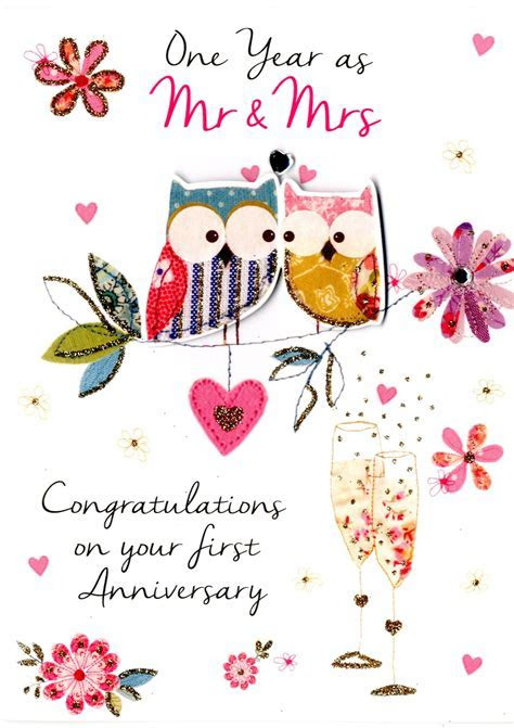 First Wedding Anniversary Greeting Card Second Nature Just