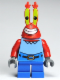 Minifig No: bob023  Name: Mr. Krabs - Large Grin