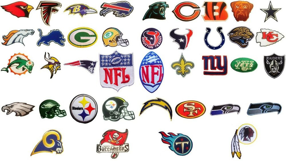 NFL, National Football league team logo patches. Embroidered iron on patch.  eBay
