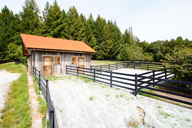 Small rustic horse barn