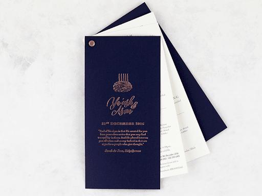 blue wedding invitation - wedding ideas blog - wedding planning services in Philadelphia PA - K'Mich Weddings