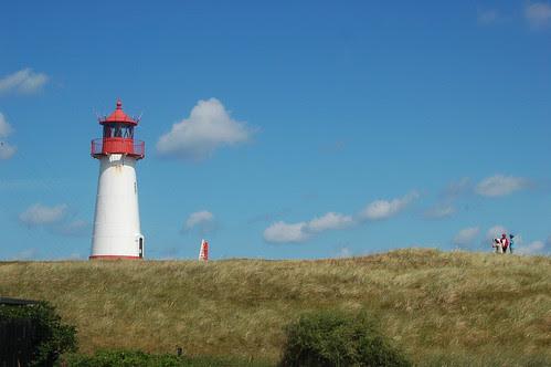 Der Leuchtturm am Ellenbogen von Sylt ist Motiv, der Motive