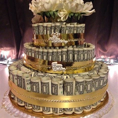 Money cake   made with about $140 for a 100th birthday