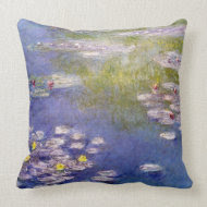 Nympheas at Giverny by Claude Monet throwpillow
