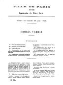 Procès verbaux - Commission municipale du Vieux Paris