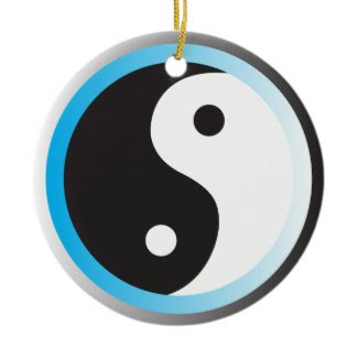 Yin Yang (blue) ornament