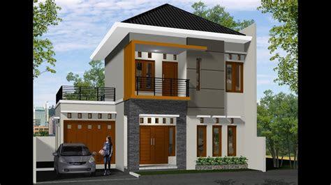 desain rumah  lantai  kamar lahan  meter biaya