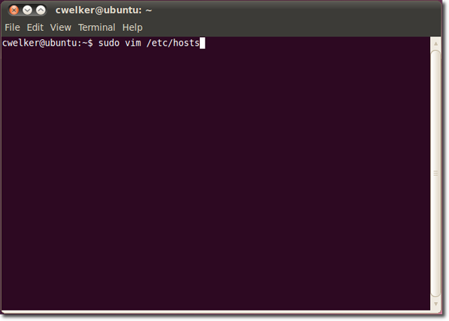 Hosts Terminal Ubuntu