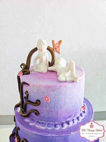 Ombre Fantasy Wedding cake-3