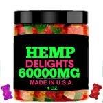 Hemp Gummies Best Tasting, Fresh Fruity Flavor Gummy Bear, Natural Hemp Candy-Made in USA