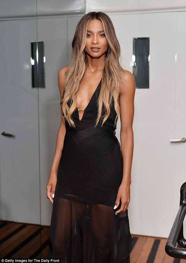 Stunner: Ciara made quite the arrival at the Daily Front Row Fashion Los Angeles Awards private dinner at Mr Chows in Beverly Hills on Sunday evening