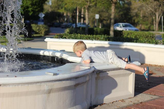 Splashing in the Fountain