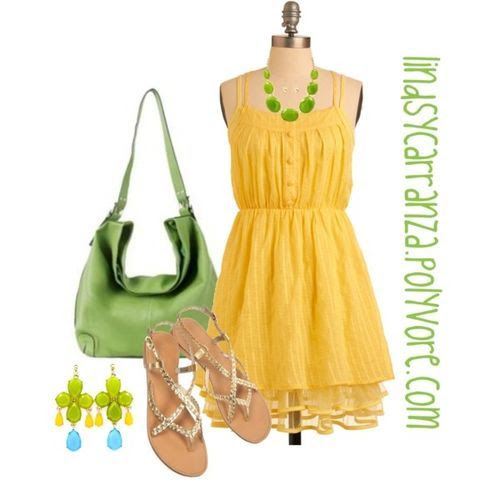 Mellow Yellow (girls,dress,girl,fashion,style,clothes,polyvore,our picks)