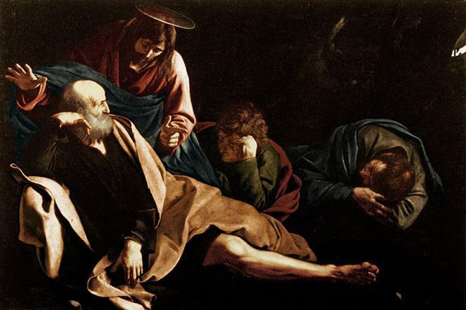 Arquivo: Michelangelo Merisi da Caravaggio - Cristo no Jardim - Colorido por Mikey Angels.jpg