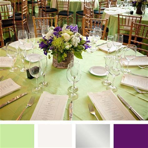 Mint Green, Silver and Purple Color Palette   Our Wedding