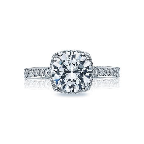 Tacori Engagement Rings Dantela Diamond Halo 18K White