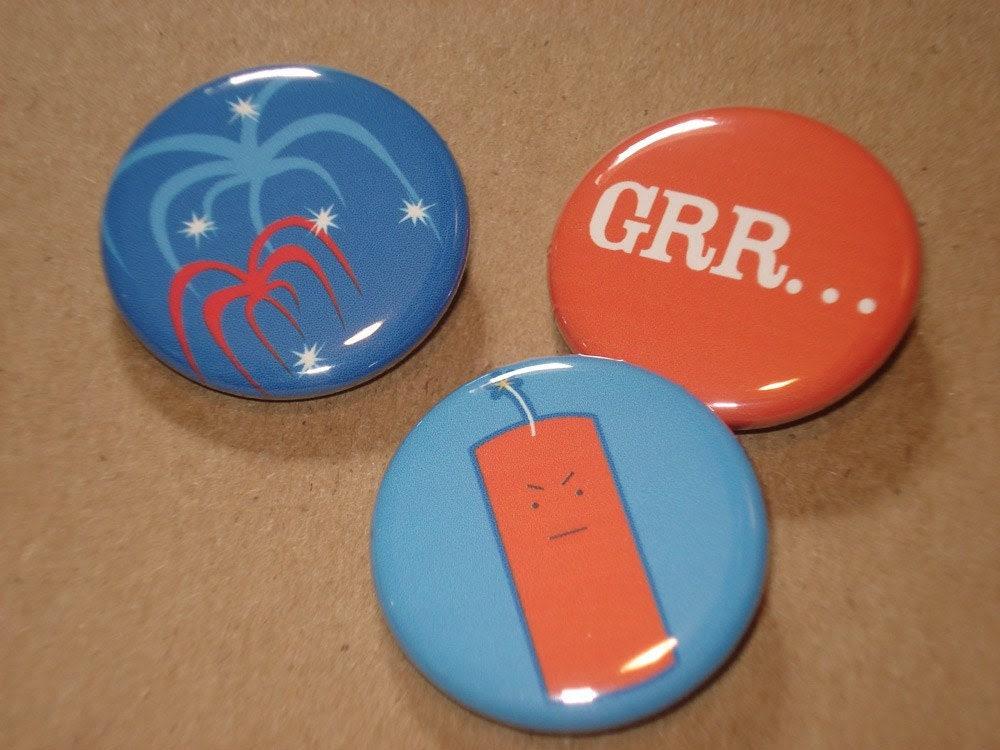 Frustrated Firecracker - 3 button set