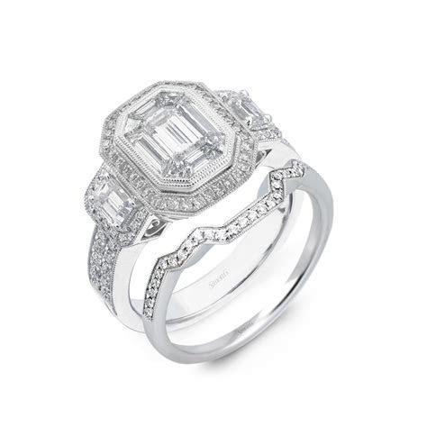Platinum Simon G engagement ring like Kim Kardashian's