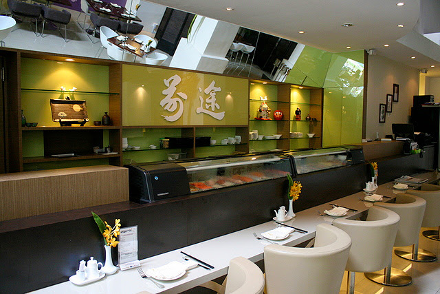 """The only """"traditional"""" bit is the sushi counter."""