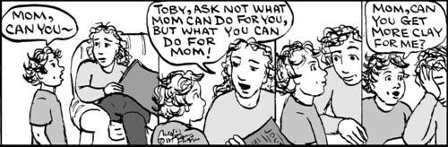 Home Spun comic strip #611