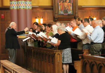 mixed choirs of men and women