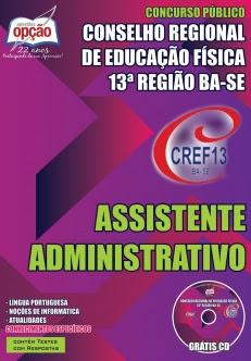 Conselho Regional de Educação Física 13ª Região (CREF)-ASSISTENTE ADMINISTRATIVO