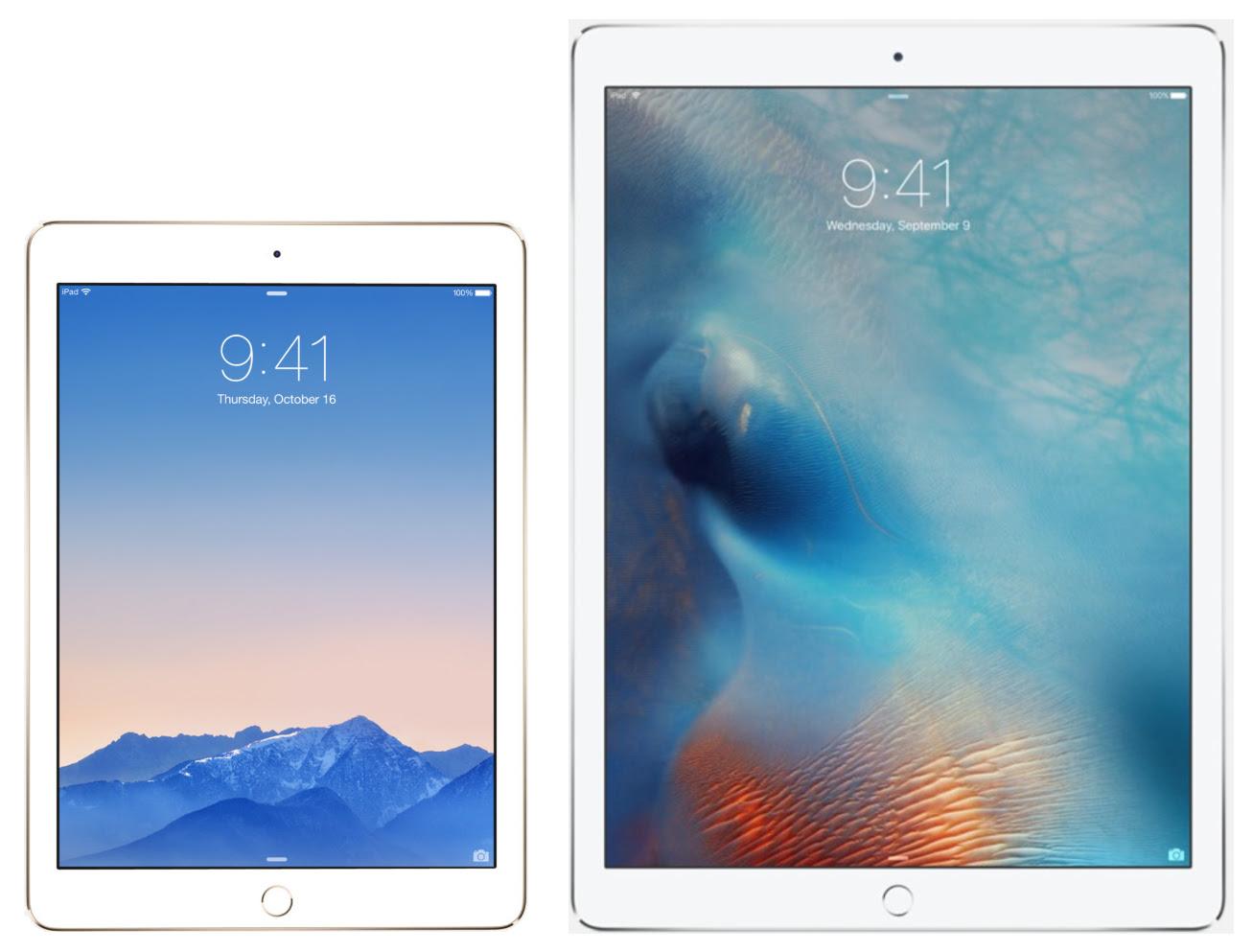 Apple iPad Air 2 and iPad Pro