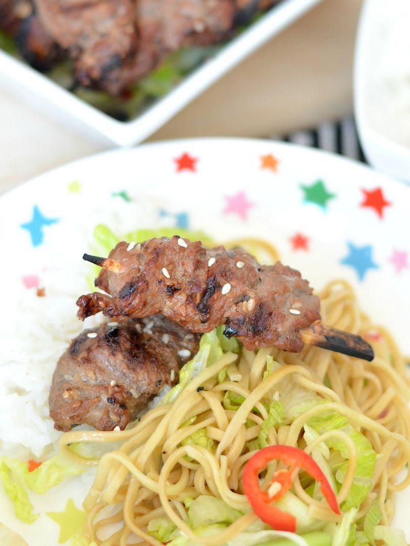 BBQ Asian Beef Skewers