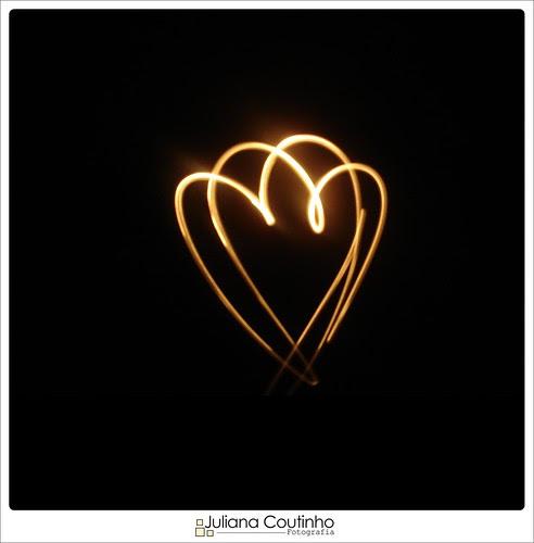 Light paint - Love ♡