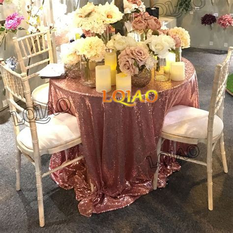 Wholesale 10PCS Christmas Rose Gold Sequin Tablecloth